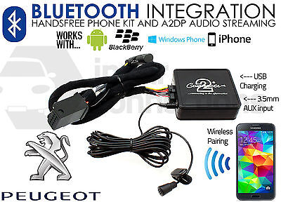 Peugeot 308 2007 on Bluetooth music streaming handsfree calls AUX USB MP3 iPhone
