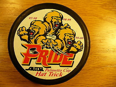 ECHL Pee Dee Pride Hat Prick Palmetto Cup Logo Hockey Puck Check My Other Pucks