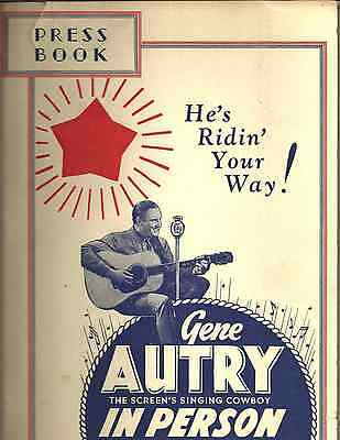 GENE AUTRY PRESS BOOK Winter 1936 Personal Appearance Tour w/ads, photo, article
