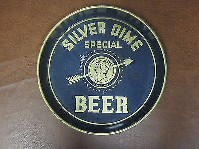 Very Rare Vintage Chester Brewing Co. Silver Dime Special 12 in. Metal Beer Tray