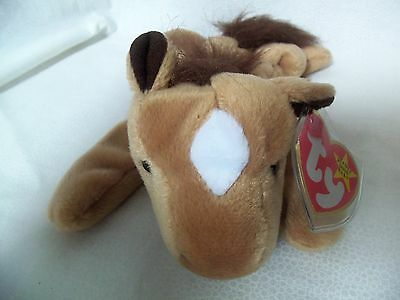 TY Beanie Babies Horse w/ Fur Mane & Tail ** DERBY**  5th Gen New w/ Tag
