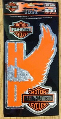 Authentic Harley-Davidson W/ Bar & Shield, Chrome Decal -NEW - Made In USA-