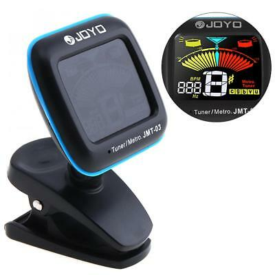 JOYO JMT-03 Super Tight Clip-On Guitar Instrument Tuner Tap Tempo Metronome
