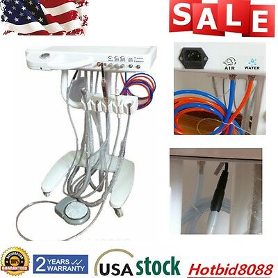 Dental Delivery Mobile Cart Unit Mobile Dental Unit Ultrasonic Scaler 110V USA