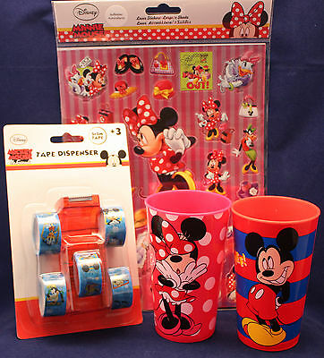 Mickey Mouse/Minnie Mouse/ Becher/ Sticker/ Tape/ OVP