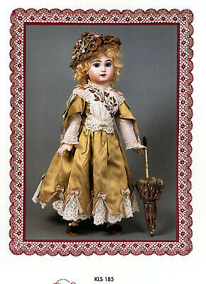 Gildebrief Authentic Antique Doll Fashion Pattern KLH-185 Complete Uncut x