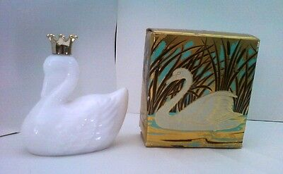 1971 AVON ROYAL SWAN BOTTLE WITH BOX - ELUSIVE COLOGNE
