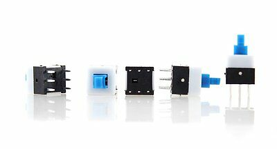 FREEPOST X 5 Mini Micro 8mm X 8mm 6-pin Push-button ON OFF Switches CHIP 8