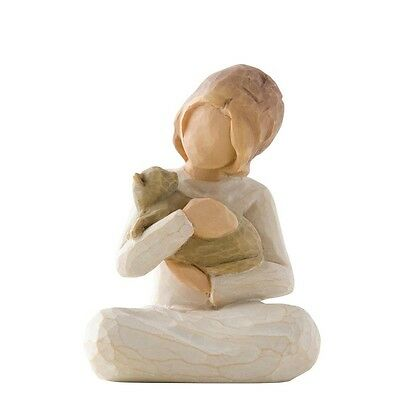 New & Boxed Willow Tree Figurine Girl with Cat 'Kindness #26218 Gift