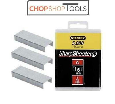 Stanley 6mm A-Type Light Duty Stapler Staples (5000 PIECES) 1-TRA204-5T
