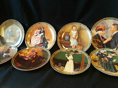 """Complete Set Normal Rockwell """"American Dream"""" Collector Plates"""