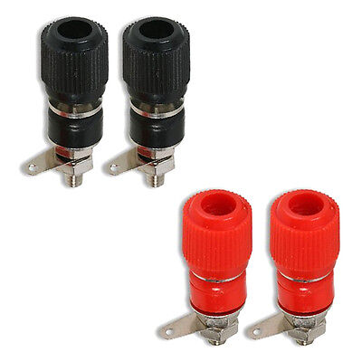 Binding Post Terminal Speaker Test Plug Socket Connector Red Black x 2 Pairs
