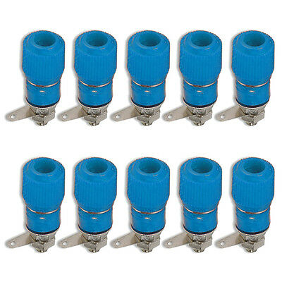 Binding Post Terminal Speaker Amplifier Test Plug Socket Connector Blue x 10