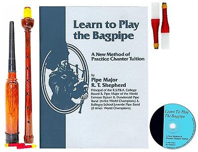 Learn to Play Bagpipes Manual BOOK/CD and PRACTICE CHANTER $39.99