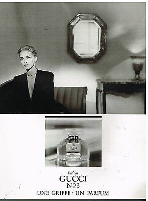 Publicité Advertising 1987 Parfum Gucci N°3