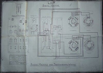 Liverpool Overhead Railway Signal Machine And Switchboard Wiring Diagram 1938