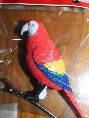 Motion Sensor Chirping Bird Security  PARROT MACAW  New in Package FREE SHIPPING