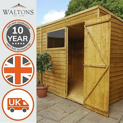 10X6 WOODEN OVERLAP Garden Storage Shed Windows Single Door Pent Roof 10ft  6ft   £379.99 | PicClick UK