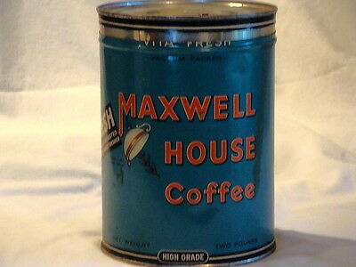 Antique Maxwell House 2 Lb Coffee Tin Kitchen Item