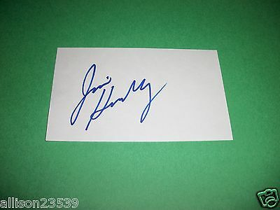 Index Card Signed By Jim Henry
