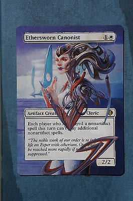 Ethersworn Canonist Magic MTG Custom Hand Painted Altered Extended Winter Art ☆
