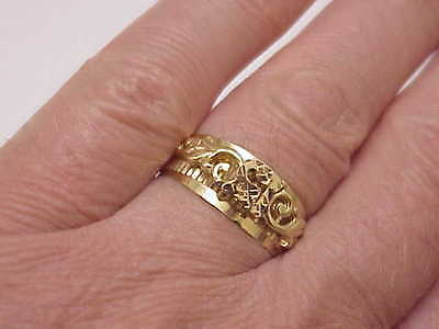 15 Ring - 14k Yellow Gold Polished Estate Birthday Flower Love Fine, 1960s