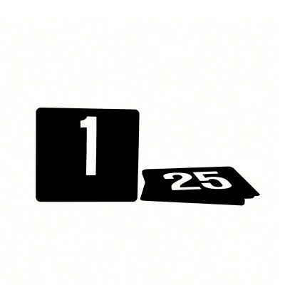 Black Plastic Table Numbers Set 1 - 25 Large Size 105 x 95 New