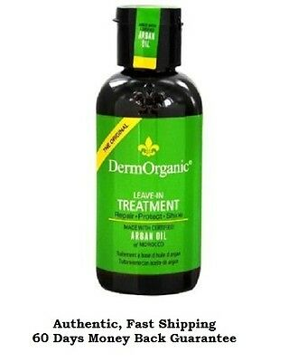 DermOrganic Leave-In Treatment with Argan Oil, 4 Oz, Fresh, Sealed, Brand New