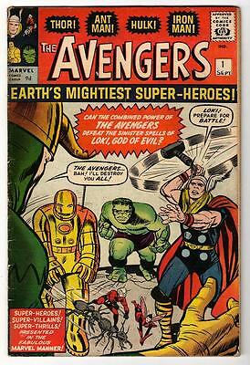 MARVEL Comics AVENGERS #1 1964 FN- 1st issue Thor Iton man Hulk