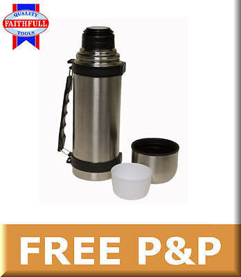 Faithfull Stainless Steel 1 Litre 2 Cup Flask