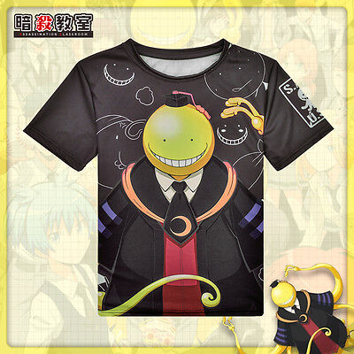 HOT Anime Assassination Classroom T-shirt Korosensei Full-color short sleeve #JD
