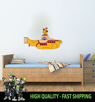 Printed Wall Art The Beatles Yellow Submarine Wall Graphic Sticker Decal