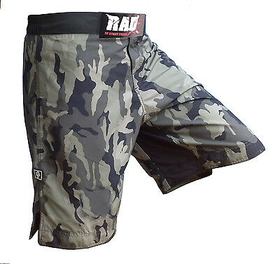RAD Camo MMA Fight Shorts Green Camouflage UFC Cage Fight Grappling Boxing New