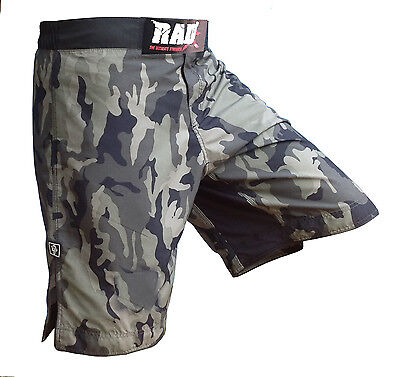 RAD MMA UFC Fight Shorts Cage Fight Grappling Kik Boxing Shorts Martial Art Camo
