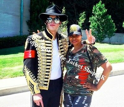 Michael Jackson Style Hussars Gilt Braid Jacket - Tunic Pelisse