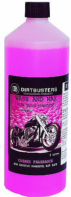 Motorbike Motorcycle Cherry Wash Wax Shampoo Cleaner With Gloss 1L
