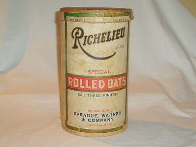 Vintage Richelieu Special Rolled Oats Container Kitchen Item