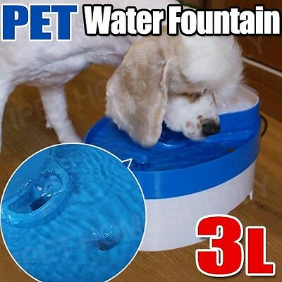 3L Auto Waterfall Drinking Fountain Cat dog Pet Drinker Water Bowl with Filter