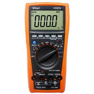 Aidetek VC97+ Auto range multimeter tester buzz AC DC duty frq temp UK shipDMM r