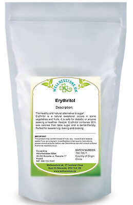 Erythritol 1kg - Pure Natural Sugar Alternative + Free Pink Himalayan Salt Gift!