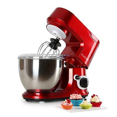 Food Processor Table top Dough Mixer 800 W By Klarstein 4 L Stainless Steel Red