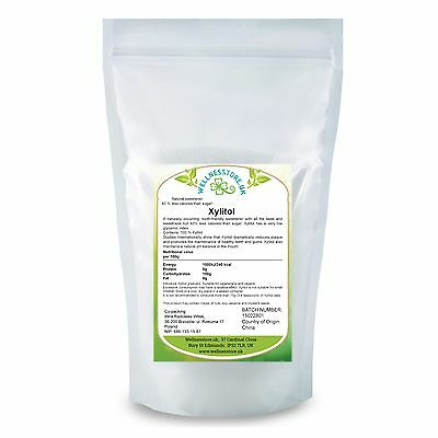XYLITOL 500g, 1kg, Natural Alternative to Sugar + Free Delivery wellnesstore.uk