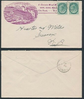 1899 A Christie Wood-Working Advertising Cover, St John NB
