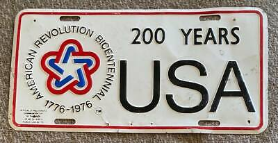 1970's AMERICAN REVOLUTION BICENTENNIAL USA 200 YEARS BOOSTER License Plate