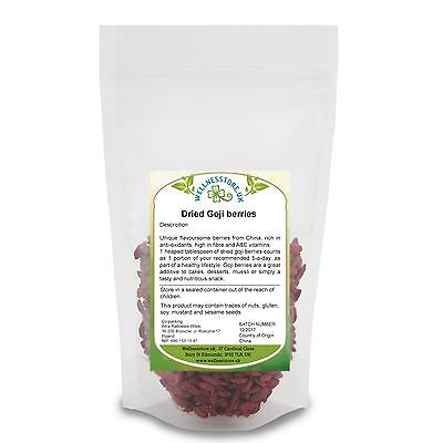 Goji Berries 100g - 1kg Rich in Anti-Oxydants + 2 GIFTs! - Chia & Himalayan Salt