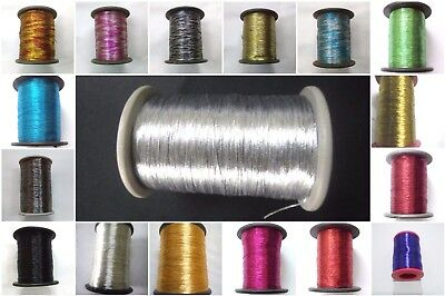 Metallic Thread Yarn Spool - Crochet Sewing Embroidery Handwork Artwork Jewelry