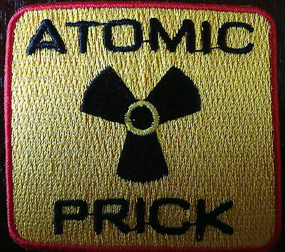 AMERICAN MOTORCYCLE HAR STYLE BIKER PATCH ATOMIC PRICK