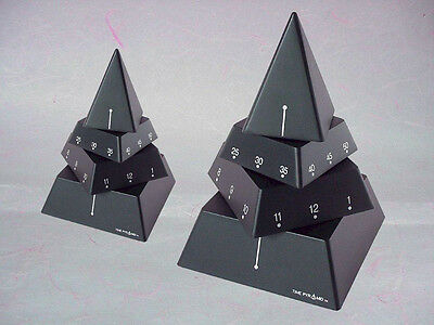 "Ideal Valentine Gift- 4"" Time Pyramid Clock, A Moving Sculpture/Timepiece"