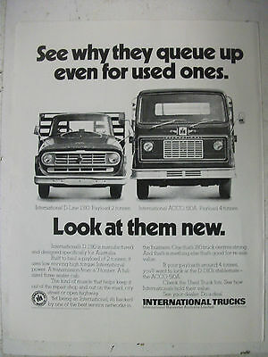 1980 International Trucks Australian Magazine Fullpage Advertisement