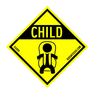 Kids safety car magnet